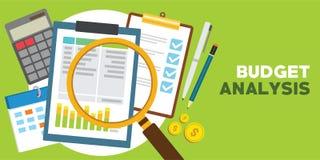 Analyse financière et monétaire de budget photographie stock