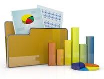 Analyse financière et ordinateur Photographie stock