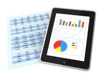 Analyse financière moderne Photographie stock libre de droits