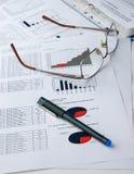 Analyse financière Photo stock