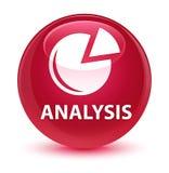 Analyse (grafiekpictogram) glazige roze ronde knoop Royalty-vrije Stock Afbeeldingen