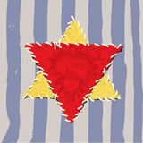 Analyse jaune juive d'étoile illustration libre de droits
