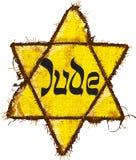 Analyse jaune juive d'étoile Images libres de droits