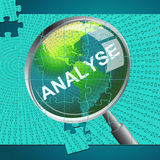 Analyse Magnifier Indicates Data Analytics And Analysis Royalty Free Stock Photography