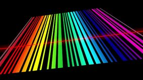 Analyse spectrale, lignes de spectre de balayage illustration stock