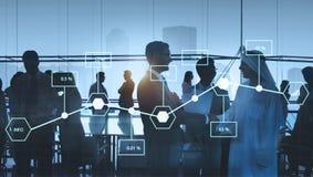 Analyse-Statistik-Informations-Prozentsatz-Wirtschafts-Konzept lizenzfreie stockbilder