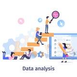 Analyse-Teamwork-Strategie-Wachstum der kommerziellen Daten lizenzfreie abbildung