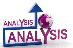 Analyse und Pfeil Stockfotos