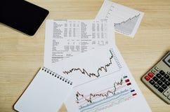 Analyse van beurs handelprogramma's royalty-vrije stock afbeeldingen