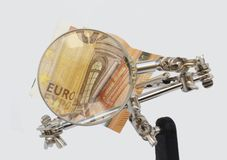 Analyse van Europese rekeningen stock foto's