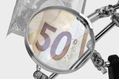 Analyse van Europese rekeningen royalty-vrije stock afbeelding