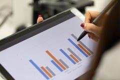 Analyse van experimentele resultaten in laboratorium royalty-vrije stock afbeeldingen