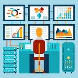 Analyse van informatie over dashboard royalty-vrije illustratie