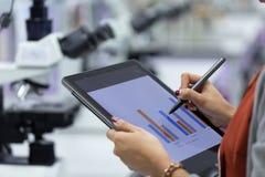 Analyse von Versuchsergebnissen im Labor lizenzfreie stockfotografie