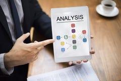 Analyse vorbildliches Flow Chart Icon Stockfoto