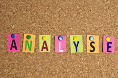 Analyse word Stock Photography