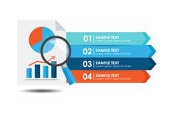 Analyseberichtsfahne infographic Stockbild