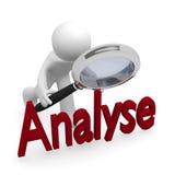 analyseer stock illustratie