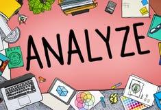 Analyseer de Analyse van de Evaluatieoverweging Conc Planningsstrategie stock illustratie