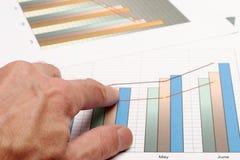 Analyseer een grafiek royalty-vrije stock fotografie