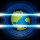 Analyseer globale technologie royalty-vrije illustratie