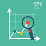 Analyseer grafiek De rapportgroei stock illustratie