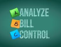 analyseer illustratie van het de raadsteken van de rekeningscontrole de post vector illustratie