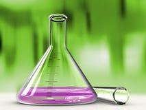 Analysendestillierkolben und Reagenzglas Lizenzfreies Stockfoto