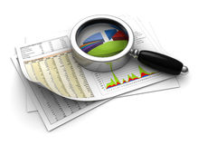 Analyser d'affaires Photos stock