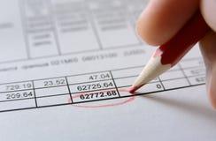 Analyser de données financières Photo libre de droits