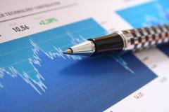 Analyser de graphique de marché boursier image libre de droits