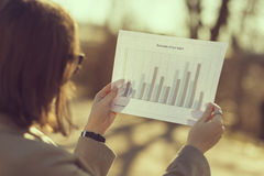 Analyser des données Photos stock