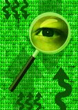 Analyser l'oeil Photos libres de droits