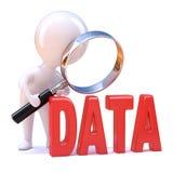 analyserar den lilla mannen 3d data Royaltyfria Bilder