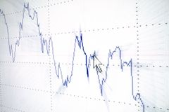 analysering av grafen Arkivbild