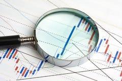analysering av marknadsmaterielet Arkivbilder