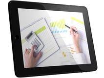 analysering av tableten för data för affärsdator Royaltyfria Bilder