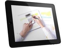 analysering av tableten för data för affärsdator Royaltyfria Foton