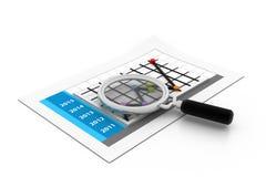 Analysering för affärsrapport Arkivfoto
