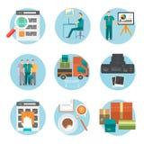 Analysez du procédé d'achats d'Internet de l'achat illustration stock