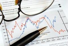 Analysez la tendance d'investissement Photos libres de droits