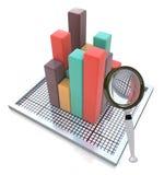 Analysieren der Daten stock abbildung