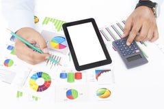 Analysieren der kommerziellen Daten Stockfotografie