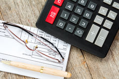 Analysieren der Rechnung Stockfotos