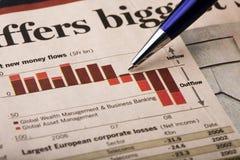 Analysieren der Wirtschaftlichkeit Stockfotos
