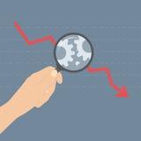 Analysieren des Krisenillustrationskonzeptes Lizenzfreies Stockfoto