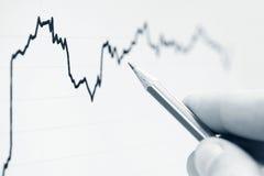 Analysieren von Finanzdaten lizenzfreie stockfotos