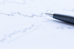 Analysieren von Finanzdaten Stockfotografie