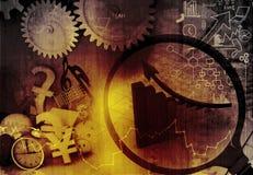 Analysing business progress. Digital illustration Royalty Free Stock Images