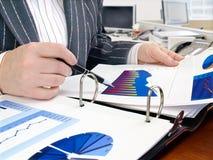Analysing data . Royalty Free Stock Photo